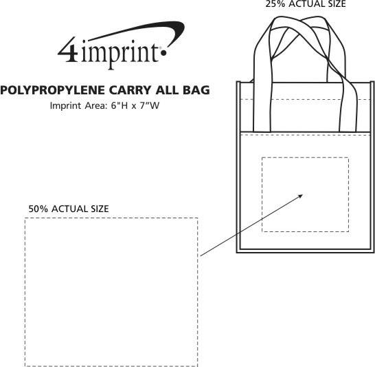 """Imprint Area of Polypropylene Carry All Bag - 13-3/4 x 11-3/4"""""""