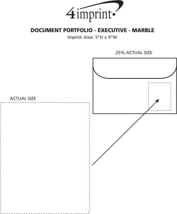 "Imprint Area of Document Portfolio - 10"" x 15"" - Executive - Marble"
