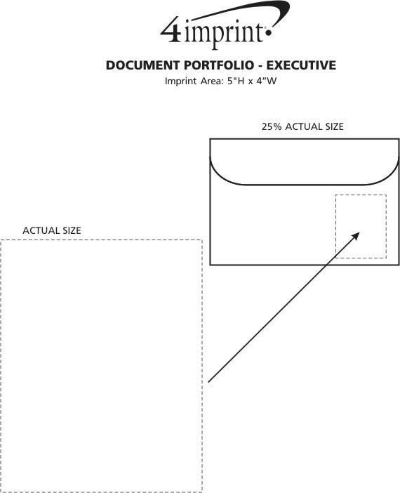 "Imprint Area of Document Portfolio - 10"" x 15"" - Executive"