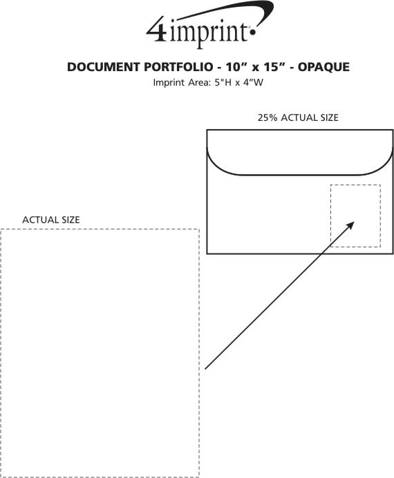 "Imprint Area of Document Portfolio - 10"" x 15"" - Opaque"