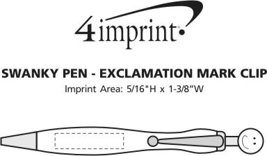 Imprint Area of Swanky Pen - Exclamation Point Tie