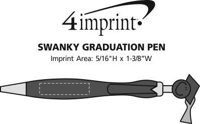 Imprint Area of Swanky Pen - Graduation
