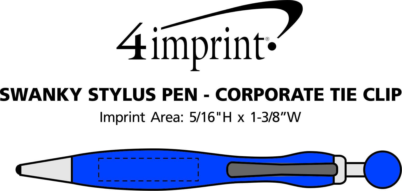 Imprint Area of Swanky Stylus Pen - Corporate Tie
