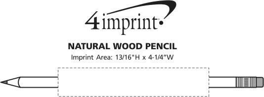 Imprint Area of Natural Wood Pencil