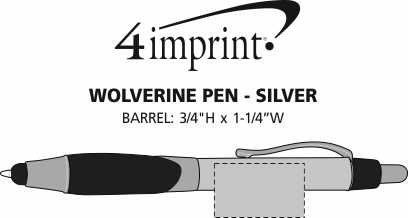 Imprint Area of Wolverine Pen - Silver
