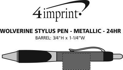 Imprint Area of Wolverine Stylus Pen - Metallic - 24 hr