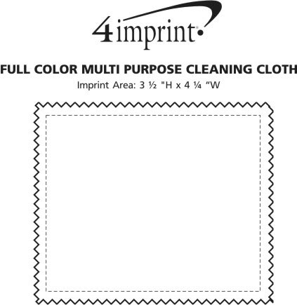 Imprint Area of Full Color Multipurpose Cleaning Cloth - 4 x 4-3/4