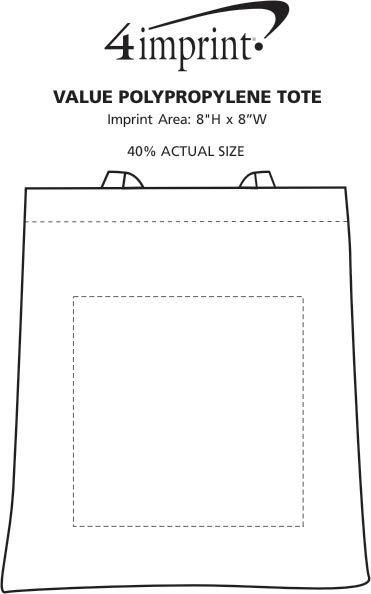 Imprint Area of Value Polypropylene Tote