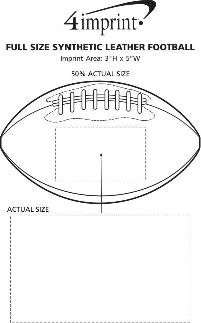Imprint Area of Full Size Synthetic Leather Football