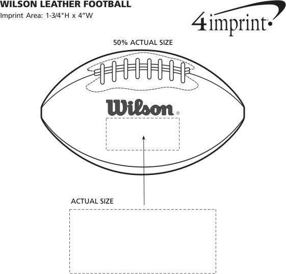 Imprint Area of Wilson Leather Football