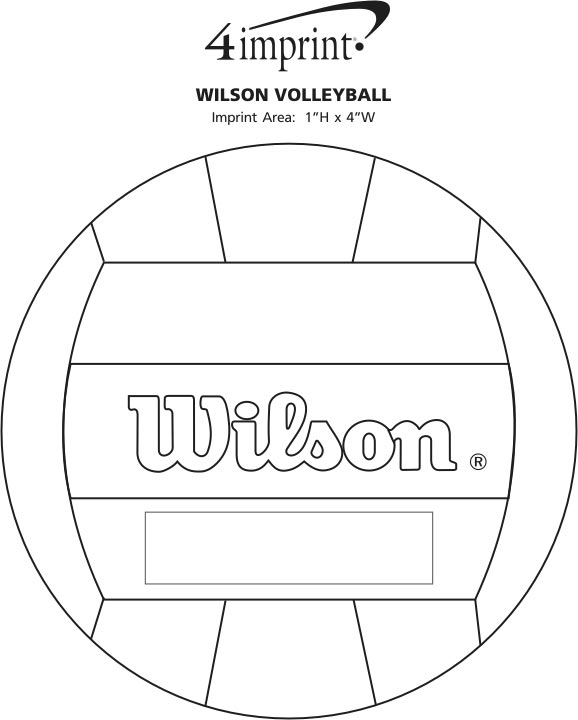 Imprint Area of Wilson Volleyball