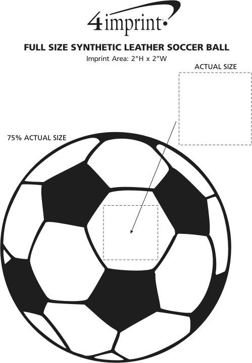 Imprint Area of Full Size Synthetic Leather Soccer Ball