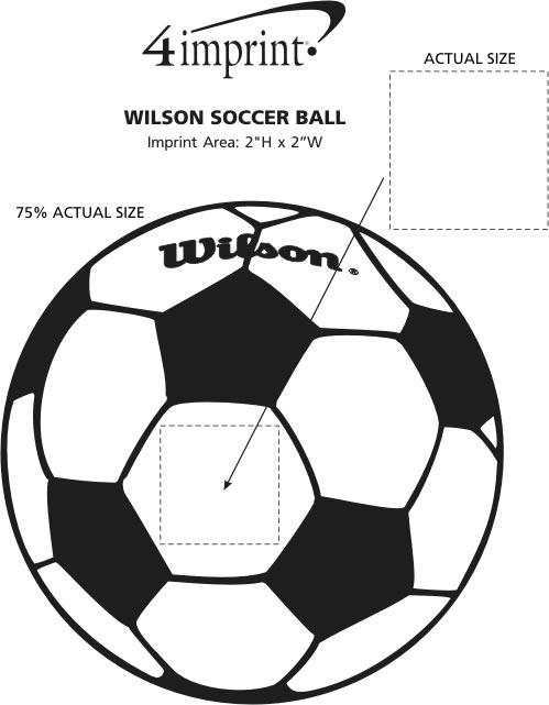 Imprint Area of Wilson Soccer Ball