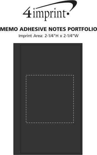 Imprint Area of Memo Adhesive Notes Portfolio