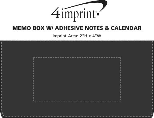 Imprint Area of Memo Box with Adhesive Notes and Calendar