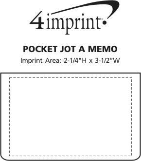 Imprint Area of Pocket Jot A Memo