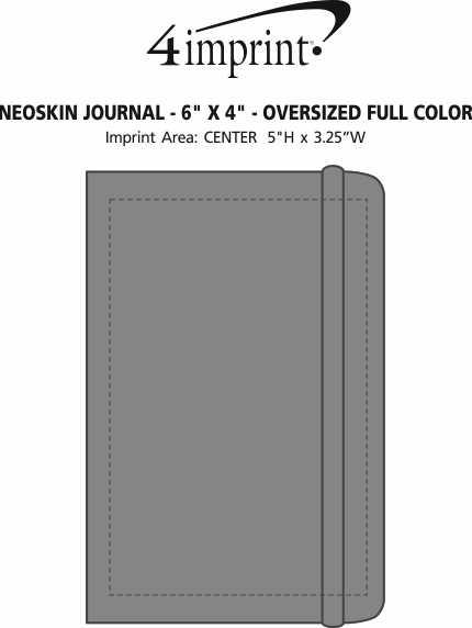 "Imprint Area of Neoskin Journal - 6"" x 4"" - Oversized Full Color"