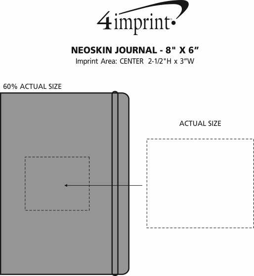 "Imprint Area of Neoskin Journal - 8"" x 6"""
