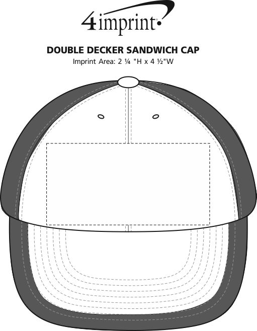 Imprint Area of Double Decker Sandwich Cap