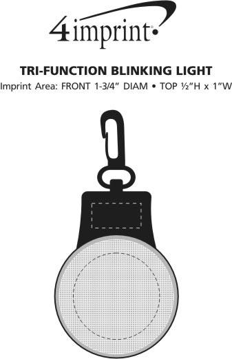 Imprint Area of Tri-Function Blinking Light