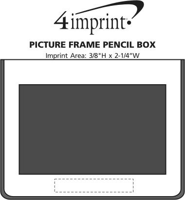 Imprint Area of Picture Frame Pencil Box