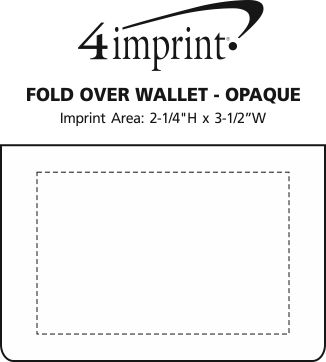 Imprint Area of Fold Over Wallet - Opaque