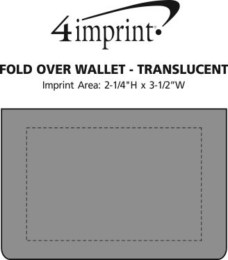 Imprint Area of Fold Over Wallet - Translucent