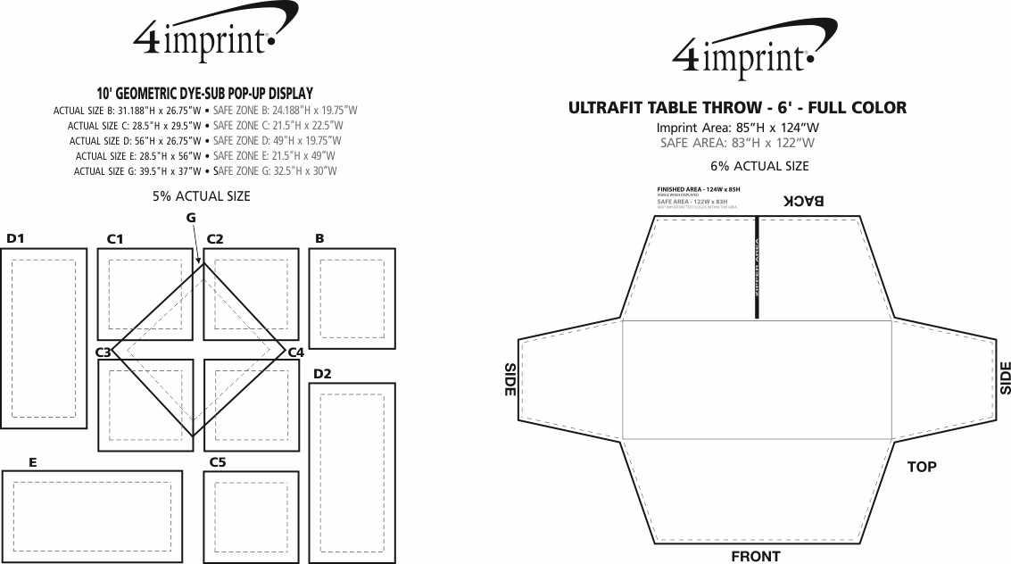 Imprint Area of 10' Geometric Dye-Sublimated Pop-Up Display Kit
