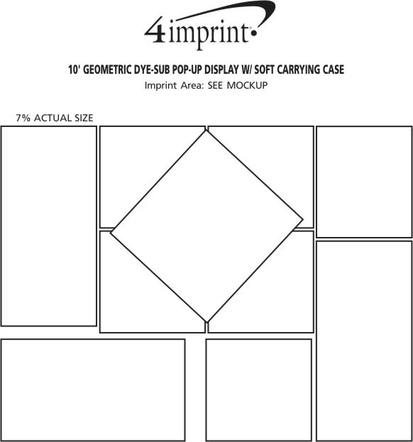 Imprint Area of 10' Geometric Dye-Sub Pop-Up Display with Soft Carrying Case