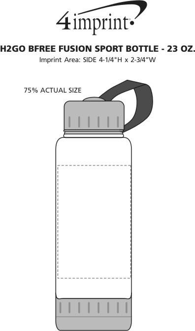 Imprint Area of h2go bfree Fusion Sport Bottle - 23 oz.