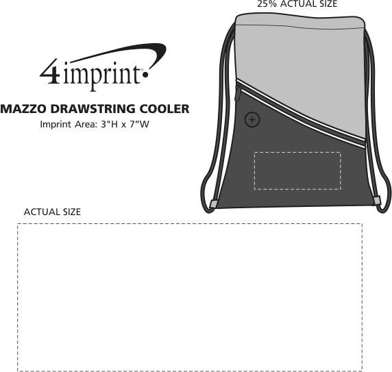 Imprint Area of Mazzo Drawstring Cooler