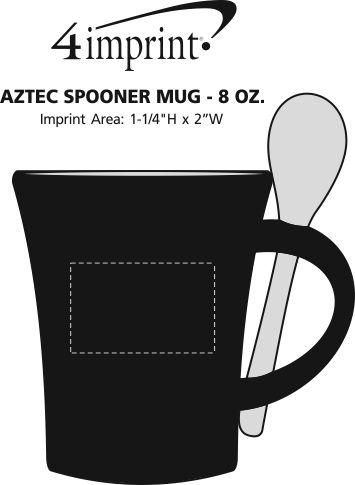 Imprint Area of Aztec Spooner Mug - 8 oz.