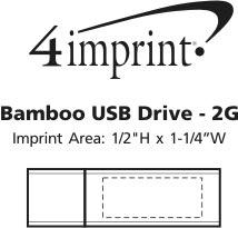 Imprint Area of Bamboo USB Drive - 2GB