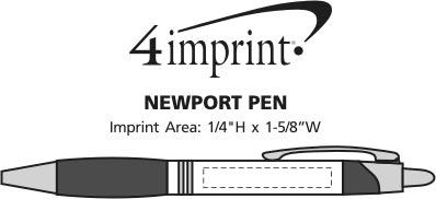 Imprint Area of Newport Metal Pen