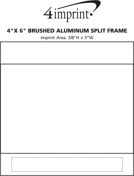 "Imprint Area of 4"" x 6"" Brushed Aluminum Split Frame"
