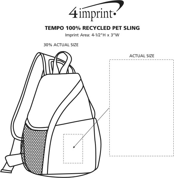 Imprint Area of Tempo Slingpack