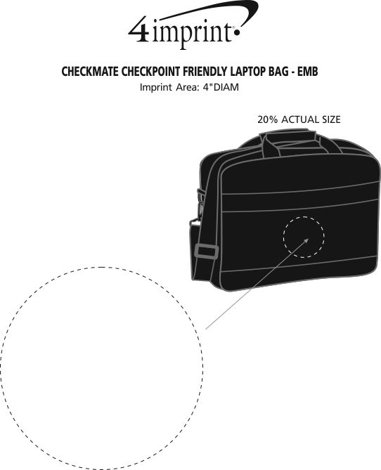 Imprint Area of CheckMate Checkpoint Friendly Laptop Bag - Embroidered