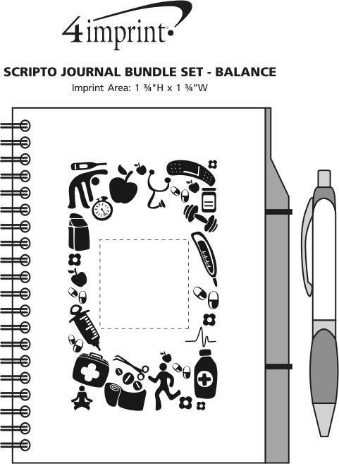 Imprint Area of Scripto Journal Bundle Set - Health Services