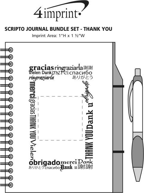 Imprint Area of Scripto Journal Bundle Set - Thank You