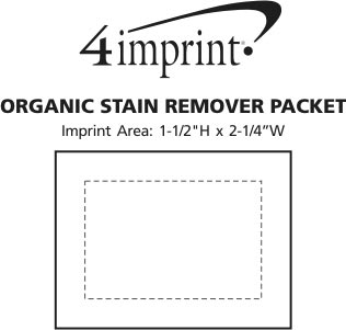 Imprint Area of Organic Stain Remover Packet
