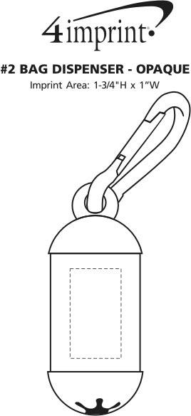 Imprint Area of #2 Bag Dispenser - Opaque