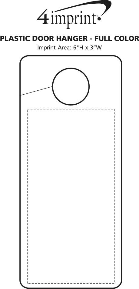 Imprint Area of Flexible Plastic Door Hanger - Full Color