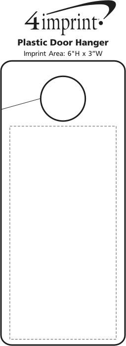 Imprint Area of Flexible Plastic Door Hanger