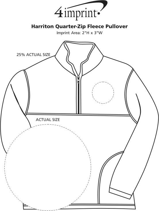 Imprint Area of Harriton 1/4-Zip Fleece Pullover