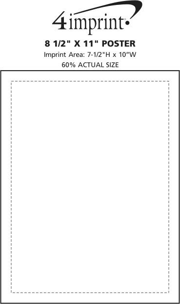 """Imprint Area of Post-it® Poster Paper - 8-1/2"""" x 11"""""""