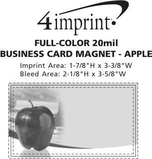 Imprint Area of Bic 20 mil Magnet - Designer - Apple