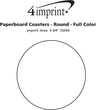 Imprint Area of Paperboard Coasters - Round - Full Color