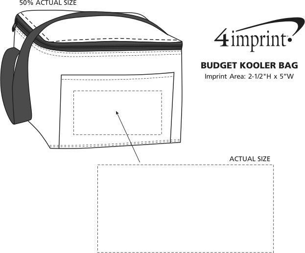 Imprint Area of Budget Kooler Bag