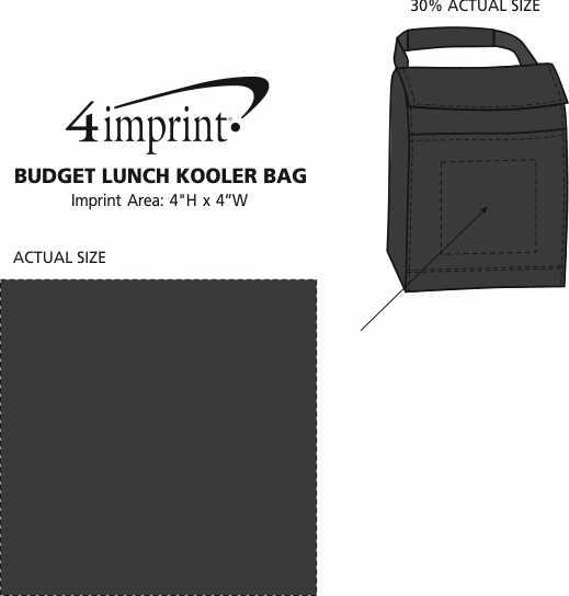 Imprint Area of Budget Lunch Kooler Bag