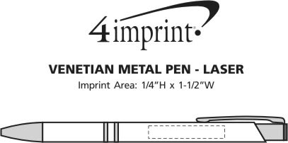 Imprint Area of Venetian Metal Pen - Laser Engraved